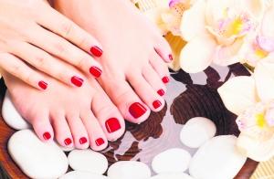 Pedicura spa, exfoliación, hidratación y masaje podal