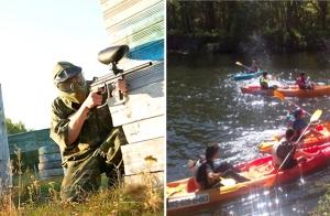 Pack multiaventura Paintball, Kayak con barcaboa incluída