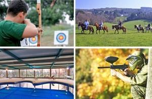 Plan multiaventura: Tiro con arco o paintball,caballos, menú y piscina